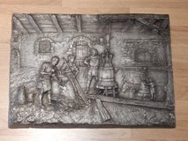 RARE Pewter Relief of Bell Making in Stuttgart, GE