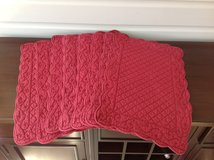Set of 8 Red Quilted Rectangular Placemats in St. Charles, Illinois