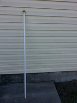 6' White Aluminium Flag Pole in Camp Lejeune, North Carolina