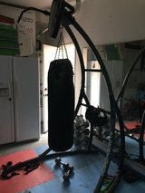Punching Bag on pullup bar stand in Temecula, California