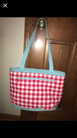 Red and White Gingham insulated picnic bag in Bartlett, Illinois