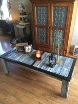 Reclaimed barn wood coffee table in Naperville, Illinois