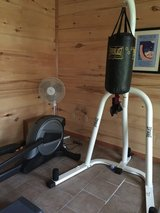 Punching bag and stand in Fort Polk, Louisiana