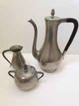 Pewter 3 Piece Tea Set in Wheaton, Illinois