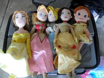 disney princess..6 in all..little mermaid is not in pic. in Vacaville, California