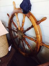 Large ships wheel in Conroe, Texas