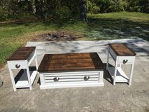 Wood crate coffee table end tables storage in Camp Lejeune, North Carolina