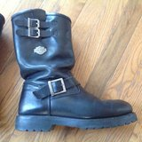 Harley-Davidson black leather riding boots 10D in Lawton, Oklahoma