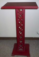 Red Wooden Lectern in DeKalb, Illinois