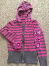 Girl's sweater Pink/Gray stripes in Fairfield, California