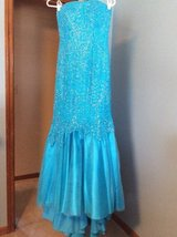 Beaded Beautiful Teal Prom Dress in Naperville, Illinois