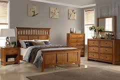 Wood Queen Bed in Fort Irwin, California