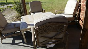 Granite  top patio table and chairs in Warner Robins, Georgia
