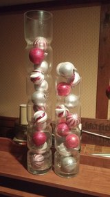 glass vases with ornaments in Schaumburg, Illinois