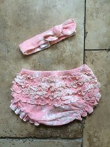 0-6mo. floral bloomers and headband in Heidelberg, GE