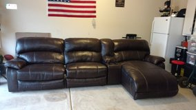 Leather sectional in Fort Benning, Georgia