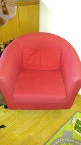 Red or white accent chair in Naperville, Illinois
