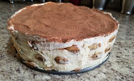 HOME MADE TIRAMISU CAKE FROM LADY FINGERS AND MASCARPONE WEIGHT 3lbs. in Shorewood, Illinois