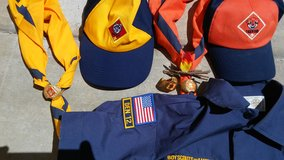 Cub and tiger scout gear in Camp Pendleton, California