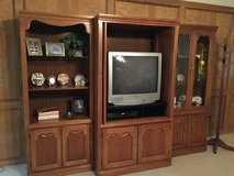 Solid Entertainment Center with storage cabinets in Kingwood, Texas
