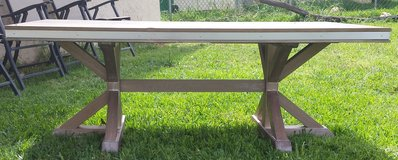 ****REDUCED****RUSTIC TRESTLE BASE COFFEE TABLE in Temecula, California