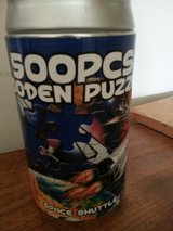 New 500 piece wooden puzzle in can in Orland Park, Illinois