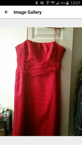 Red formal dress in Fort Drum, New York