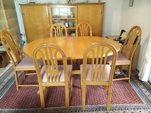 Dining Room Set real wood in Ramstein, Germany