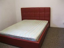 """Queen Size Bed """"Smooth Red"""" - including delivery and set up - Monthly payment plans in Hohenfels, Germany"""