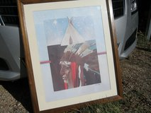 nicely matted and framed native american print in Ruidoso, New Mexico