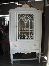 Vintage Painted China Cabinet in Fairfax, Virginia