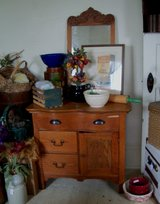 Antique Washstand with Hanging Mirror in Fort Leonard Wood, Missouri