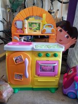 Dora kitchen with play food/pans in Fort Drum, New York