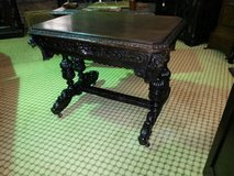 Carved Oak Green Man Dolphin Table free delivery in Lakenheath, UK