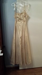 Prom Dress, Size 8, Gold in Kingwood, Texas
