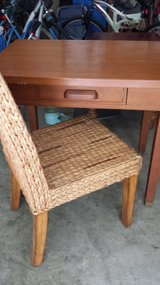 Vintage Solid Wood Desk and Chair in Conroe, Texas