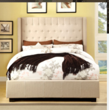 Upholstered Queen Bed in Beaufort, South Carolina