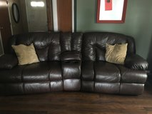 Full reclining sofa, with cup holders in Fort Lewis, Washington