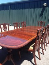 Duncan Fife Dining room table with 10 Chippendale chairs in Aiken, South Carolina