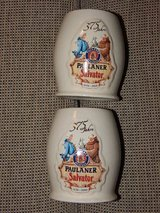 RARE Pair of Paulaner Salvator 375 Year Anniversary Steins in Stuttgart, GE