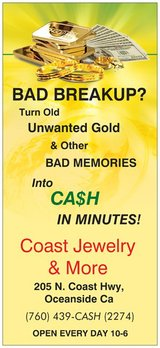 Breakup Jewelry & Unwanted Gold in Oceanside, California