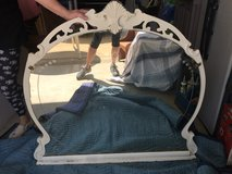 Antique shabby chic white etched mirror in Fort Belvoir, Virginia