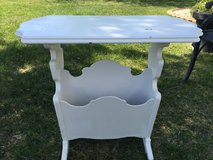 Vintage White shabby chic magazine end table in Fort Belvoir, Virginia