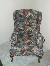 Wingback Americana-Themed Chair in Coldspring, Texas