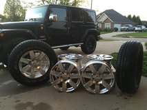"""JEEP 18"""" Wheels (x5) + 2 NEW Tires in Dover AFB, Delaware"""