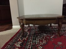 Wooden Coffee table with matching end table in Glendale Heights, Illinois