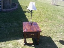 Distressed Pine end table---- in Fort Drum, New York