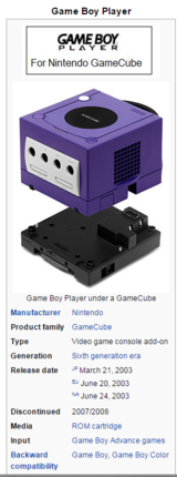 Game Boy Player Nintendo GameCube (DOL-017 GameBoy Game Cube) with Start-Up Disc in Vista, California