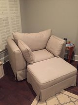 Gorgeous Oversized Chair and Ottoman ($225) Negotiable -  Athens in Huntsville, Alabama