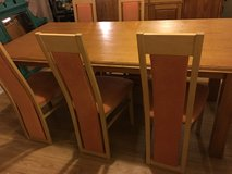 Dining table and 6 chairs in Lawton, Oklahoma